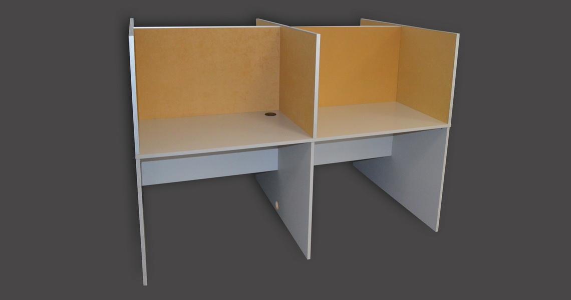 birou cu separatoare tapitate